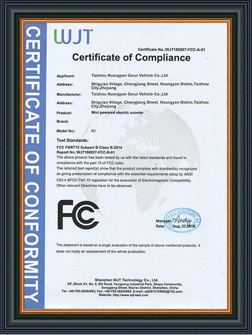 FCC Certificates
